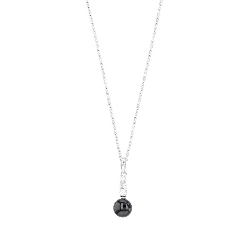 collier argent boule oxyde de zirconium