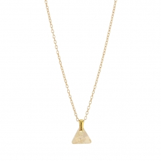 Collier Triangle  en argent doré 925/1000 et Swarovski Elements Crystal golden shadow
