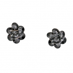 Boucles d'oreilles en argent rhodié 925/1000 Collection Sini Swarovski Elements Silver night
