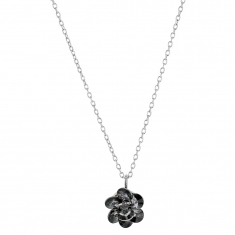 Collier en argent rhodié 925/1000 Collection Sini Swarovski Elements Silver night