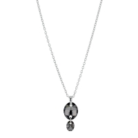 Collier en argent rhodié 925/1000 et Swarovski Elements  Silver night